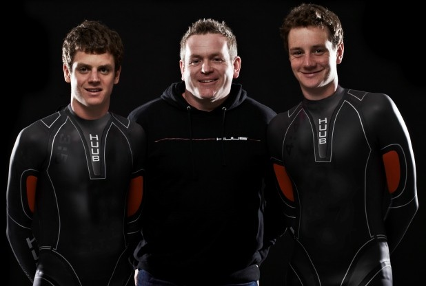 Mickleover business owner Dean Jackson's company, Huub, are world leaders in wetsuit design and manufacture, seen here with Team GB Olympic triathlon heroes Alistair and Jonathan Brownlee.