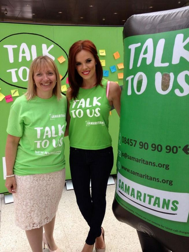 (Right) Mickleover-born The Only Way Is Essex star, Maria Fowler at a Samaritans event