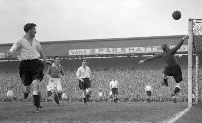 FA Cup action against Portsmouth in the sixth round at Fratton Park