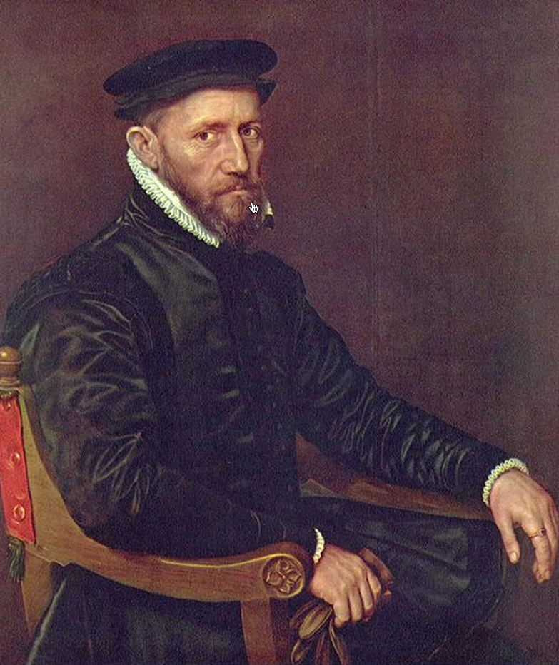 Sir Thomas Gresham (c 1518-1579), Founder of the Royal Exchange, London, merchant adventurer and public benefactor. He brought the parishes of Findern, Littleover, Potlac and Mickleover from Thomas Lord Paget who then sold them onto William Gilbert Esq.